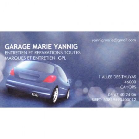 Garage YANNIG MARIE Cahors, garage automobile, réparation de voiture, pièces et accessoires à Cahors