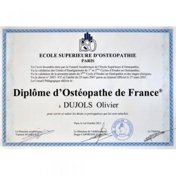 OLIVIER DUJOLS ostéopathe Cahors, ostéopathe pour les adultes, enfants et nourissons à Lamagdelaine près de Cahors