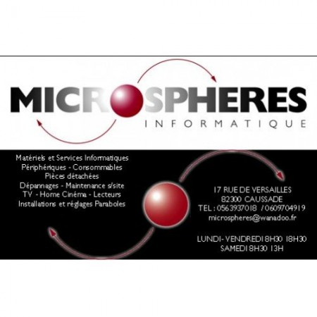 MICROSPHERES INFORMATIQUE Caussade, informatique et multimédia à Caussade