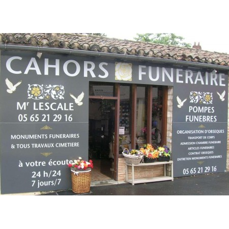 CAHORS FUNERAIRES M. LESCALE Cahors, pompes funèbres, organisation d'obsèques à Cahors